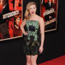 Scarlett Johansson seen attending the premiere of new film 'Hitchcock' held at the Ziegfeld Theater in New York City