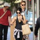 Vanessa Hudgens In Tights Out and About In Nyc