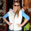 Mariah Carey did some shopping while vacationing in Aspen, Colorado on December 20, 2012