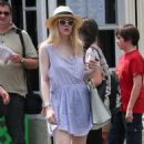 Dakota Fanning: spotted walking the sidewalks of the Big Apple
