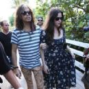 Steven Tyler & Liv Tyler hang out in Miami on December 9, 2013