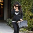 Kim Kardashian: leaving the Andy Lecompte Hair Salon after getting her hair done in West Hollywood