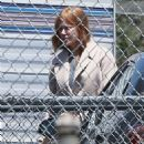 Nicole Kidman on a film set on her 51st Birthday in Santa Monica