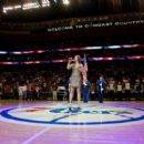 Ayla Brown - National Anthem before 76ers game, Wells Fargo Center, Philadelphia, PA, April 4, 2012 - 454 x 255