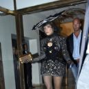 Lady Gaga: leaving Hotel Skt. Petri in Copenhagen