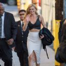 Adrianne Palicki Arriving at 'Jimmy Kimmel Live' in Hollywood