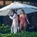 Eva Longoria – In pink swimsuit on her vacay in Cabo San Lucas - 454 x 303