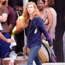 Amy Adams Performs on the Set of 'Sharp Objects' - 420 x 600
