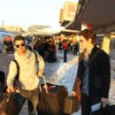 Joe Jonas and his brother, Nick Jonas at LAX Airport (February 5)