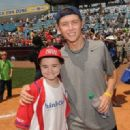 Scotty McCreery participated in the City of Hope Celebrity Softball Challenge today, June 9, at Greer Stadium in Nashville - 454 x 321
