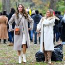 Hilary Duff – With Sutton Foster At the film set of the 'Younger' TV Series in New York