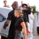 Sofia Richie – Wears leather pants while seen at Nobu in Malibu