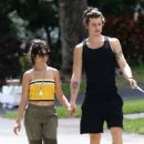 Camila Cabello and Shawn Mendes – Walking her dog Thunder in Miami