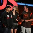 Kevin James, Jessica Biel and Adam Sandler during The 2007 MTV Movie Awards - Show - 454 x 324