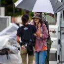 Winona Ryder – On set for 'Stranger Things' in Atlanta - 454 x 681