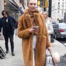 Candice Swanepoel – Leaving Ralph Lauren Show in New York - 454 x 692