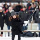 Prince Windsor and Kate Middleton attended a Bandy hockey match at Vasaparken