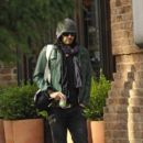 Russell brand heads out for a workout at the local hym near his New York City