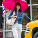 Helena Christensen – Out and about in New York City - 454 x 681