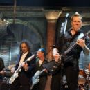 Metallica perform onstage at the 24th Annual Rock and Roll Hall of Fame Induction Ceremony at Public Hall on April 4, 2009 in Cleveland, Ohio - 454 x 339