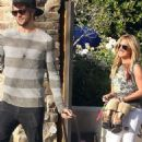 Ashley Tisdale spent Valetine's Day with her boyfriend, Martin Johnson. (February 14)