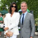 Wimbledon 2019: David Coulthard and glamorous wife Karen put on a stylish display as they take their places in Centre Court's Royal Box - 454 x 614