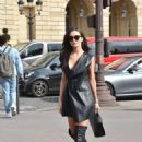 Amy Jackson in Mini Dress – Out in Paris - 454 x 644