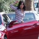 Courteney Cox On The Set Of 'Cougar Town'