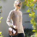 Taylor Swift was spotted out in Brentwood, CA today visiting a friend