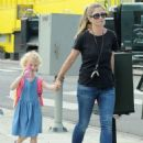 Rebecca Gayheart and her daughter Billie Dane spotted out and about in West Hollywood, California on September 8, 2014 - 454 x 593