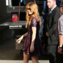 Isla Fisher – Arriving at 'Jimmy Kimmel Live' in Hollywood October 21, 2016