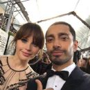 Felicity Jones and Riz Ahmed at the 74th Golden Globes - arrivals (jan, 2017) - 375 x 500