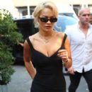 Rita Ora in Black Mini Dress – Out in Milan
