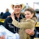 Bridie Carter and Aaron Jeffery