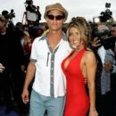 Matthew McConaughey and Carmen Electra attends The 1997 MTV Movie Awards