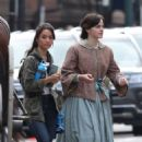 Emma Watson – Filming 'Little Women' in Boston