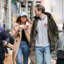 Aubrey Plaza with boyfriend out in New York