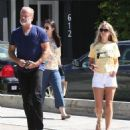 Kelsey Grammer and his wife stop by the Andy LeCompte Salon in West Hollywood, California on September 29, 2015