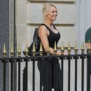 Pamela Anderson in Black Outfit – Out in Paris - 454 x 687