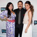 Mercedes 'MJ' Javid, Reza Farahan, Golnesa 'GG' Gharachedahi attend the Bravo Upfront 2012 at Center 548 on April 4, 2012 in New York City - 396 x 594