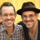 "Nicholas Brendon, (L) best known for his role as Xander on the show ""Buffy the Vampire Slayer"", has an identical twin brother named Kelly Donovan"