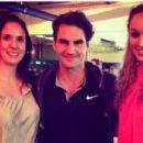 Isabelle Forrer, Roger Federer and Anouk Verge-Depre - 454 x 303