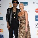 Amber Rose and Wiz Khalifa  arrive at Clive Davis and the Recording Academy's 2012 Pre-GRAMMY Gala and Salute to Industry Icons Honoring Richard Branson held at The Beverly Hilton Hotel in Beverly Hills, California - February 11, 2012 - 390 x 594