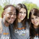 Victoria Justice and some of her Victorious cast mates, Danielle Monet and Leon Thomas, were in New Orleans, Louisiana today, April