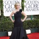 Julia Stiles arrives for the Golden Globe Awards, January 16, 2011