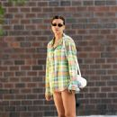 Irina Shayk in Shirt – Out in NYC