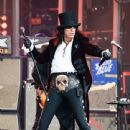 Alice Cooper is seen performing with his band Hollywood Vampires at 'Jimmy Kimmel Live' in Los Angeles, California on June 13, 2019 - 441 x 600