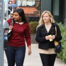 Reese Witherspoon and Mindy Kaling: went to lunch at Tavern Restaurant in Brentwood
