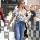 Melissa Benoist – Arriving at AOL Build Studios in New York - 454 x 681