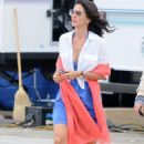 Courteney Cox - Filming Her TV Series Cougar Town At A Local Beach, 20. 8. 2009.